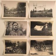 Lot De 29 Photos. Scoutisme. Campement. Scouts Sur Un Canon. - Lieux