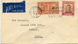 (e1004) Brief Neuseeland St. Wellington N. Bombay Indien - 1907-1947 Dominion