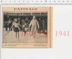 Presse 1941 Patinoire Parisienne Paris Patinage Patins à Glace 223XP - Vieux Papiers