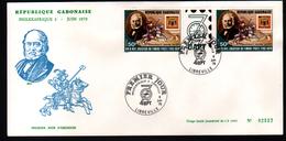 Gabon,1979, PHILEXAFRIQUE II,. INTERNATIONAL PHILATELIC EXHIBITION, Sir R. Hill - Gabon (1960-...)