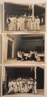 Lot De 3 Photos. Viêt-Nam. Personnel D'une Société à Déchiffrer. 1940. - Lieux