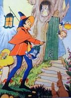 Cpa ILLUSTRATEUR L.STEELE . FEERIE . LUTIN VEILLEUR DE NUIT . HIBOU. 1947  ELF NIGHT WALKER FAIRIES  OWL. ELVES A/s - Contes, Fables & Légendes