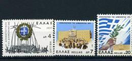 .1977 Grecia, Restaurazione Democrazia , Serie Completa Nuova (**) - Grèce