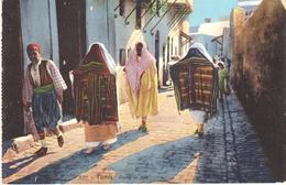 POSTAL   TUNIS (TUNEZ)  AFRICA  - DANS LA RUE - Túnez