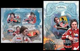 2013 Mozambique, F1 Races Gilles Villeneuve, Klb + S/s MNH - Cars