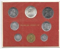 VATICANO 1962 - DIVISIONALE Monete ANNO IV PAPA GIOVANNI XXIII  In Confez.  FDC - Vaticano