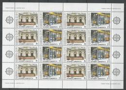 8x GREECE - MNH - Europa-CEPT - Architecture - 1990 - Folded Sheets - Europa-CEPT