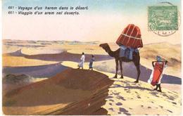 POSTAL   TUNIS (TUNEZ)  AFRICA  - VOYAGE D'UN HAREM DANS LE DÉSERT - Túnez