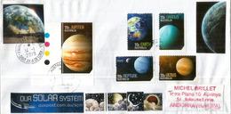 AUSTRALIA: Solar System Planets: Neptune, Uranus,Venus,Jupiter,Terre. Lettre Envoyée En Andorra 2019 - Astronomie