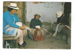 Equateur Ecuador Tejedores Sombrero Paja Toquilla Cuenca Artisanat Chapeau De Paille + Timbre 2 Timbres - Equateur