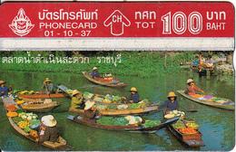 THAILAND(L&G) - Floating Market, TOT Telecard 100 Baht, CN : 407F, 10/94, Used - Tailandia