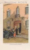 Menu  Bourgogne MORIN / Illustré De L'entrée De La Maison MORIN / 21 Nuits St Georges - Menus
