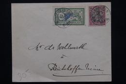 FRANCE - Affranchissement Mixte De Mutterhausen En 1919 -  L 21008 - Elzas-Lotharingen