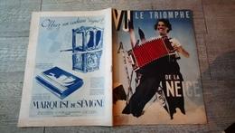 Revue Vu 1936 Le Triomphe De La Neige Ski Sport D'hiver  Expédition Française Au Groenland Politique Mode - Books, Magazines, Comics