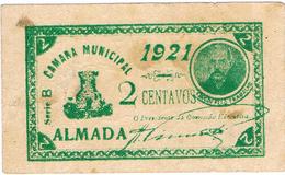 CÉDULA DA CÂMARA MUNICIPAL DE ALMADA 2 CENTAVOS. - Portugal