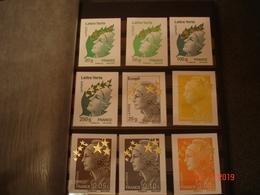 ALBUM CONTENANT TIMBRES,CARNETS ET BLOCS FEUILLETS NEUF LUXE DE FRANCE( Contient Les 15 MARIANNES AUX ETOILES D'OR) - Briefmarken