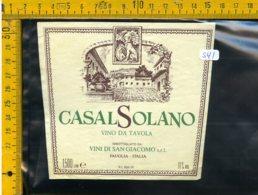 Etichetta Vino Liquore Casal Solano Fauglia - Altri