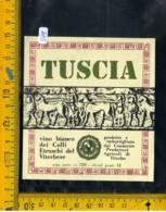 Etichetta Vino Liquore Tuscia Colli Etruschi Viterbo - Altri