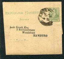 Argentinien / 1894 / Streifband Nach Hamburg (5/358) - Postal Stationery