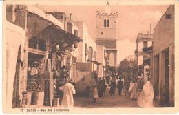 POSTAL   TUNIS (TUNEZ)  AFRICA  - RUE DES TEINTURIERS - Túnez