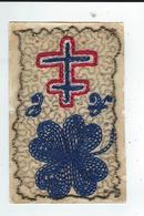 Carte Postale Militaire Brodée   Sur Tulle  Fleur+ Croix De Lorraine TBE écrite  1916 - Ricamate