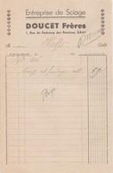 Petite Facture 1946 / Scierie DOUCET Frères / 70 Gray - France