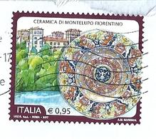 2017  CERAMICA MONTELUPO  USATO - 6. 1946-.. Repubblica
