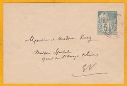 1895 - Entier Postal 5 C Vert Alphée Dubois Sur Enveloppe Mignonnette De Saigon, Cochinchine, En Ville - Alphée Dubois