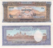 Cambodia 50 Riels 1972 P-7c GEM UNC - Cambodge