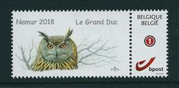 Duostamps Buzin Namur 2018    Grand Duc   (**) - 1985-.. Oiseaux (Buzin)