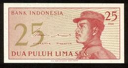 Indonesien 1964, 25 Sen - UNC, Kassenfrisch - Indonesien