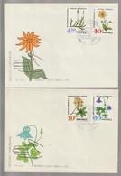 H 143) Polen 1967 Mi# 1770-1775 FDC: Heil-Pflanzen Arnika Akelei Enzian Azalee - Heilpflanzen