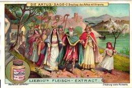 0988  Liebig 6 Cards- C1910  Duits- TheArthurian Legend  Die Artus-Sage  Artus-Ginevra-Tafelrunde- - Liebig