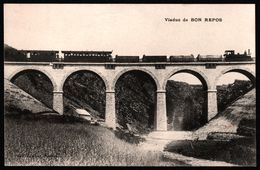 Pontivy - Viaduc De Bon Repos - Locomotive à Vapeur - Wagon - Train à Marchandises - Collection LE CUNF. - 1919 - Pontivy