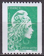 Timbre Neuf ** N° 5255(Yvert) France 2018 - Marianne L'Engagée Roulette, N° Noir Au Verso - 2018-... Marianne L'Engagée