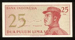Indonesien 1964, 25 Sen - UNC, Kassenfrisch - Indonésie