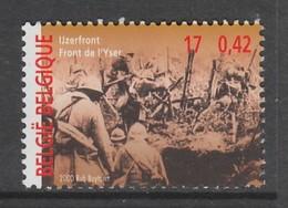TIMBRE NEUF DE BELGIQUE - LE FRONT DE L'YSER N° Y&T 2940 - Guerre Mondiale (Première)