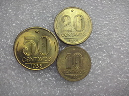 Brazil  10 - 50 Centavos   1955   AUNC - Brésil