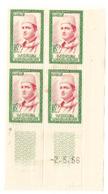 Coin Daté De 4 Timbres Maroc De  1956. N° 364. Portrait Du Souverain - Maroc (1956-...)