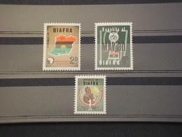 NIGERIA - BIAFRA - 1968 INDIPENDENZA 3 VALORI(alcune Pieghette) - NUOVI(++) - Nigeria (1961-...)