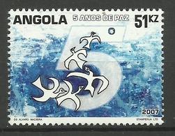ANGOLA 2007  FIVE YEARS OF PEACE MNH - Angola