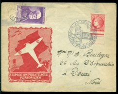 """France 1946 Lettre Spéciale Exposition Philatélique """"Prisonnier"""" Avec Mi 745 - Postmark Collection (Covers)"""