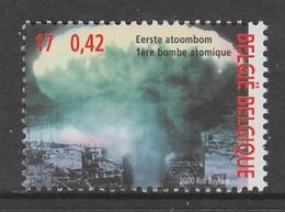 TIMBRE NEUF DE BELGIQUE - LA PREMIERE BOMBE ATOMIQUE N° Y&T 2942 - Guerre Mondiale (Seconde)
