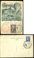 France 1946 Carte Postale Paris Montmartre - Siège De Paris Avec Mi 678 Et 407 - Postmark Collection (Covers)