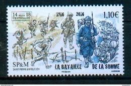 Saint Pierre & Miquelon 2016 - Bataille De La Somme, 1ere Guerre Mondiale / Somme Battle, World War I - MNH - Guerre Mondiale (Première)