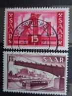 SARRE 1954-55  Y&T N° 337 & 338 OB - 1947-56 Occupation Alliée