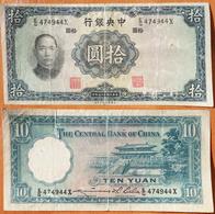 China 10 Yuan 1936 - Chine
