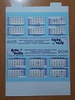 2019 CALENDARIO TAMAÑO MEDIANO PUBLICIDAD ARTE & SELLO. - Calendarios