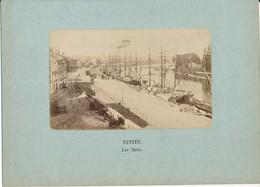 NANTES - Les Quais -  Photo Contrecollée Sur Carton Fort - Photos