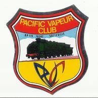 Autocollant Pacific Vapeur Club BP 115 76302 Sotteville - Chemin De Fer